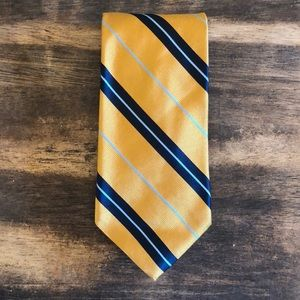 Gold with Blue Stripes Brooks Brothers Basics Tie